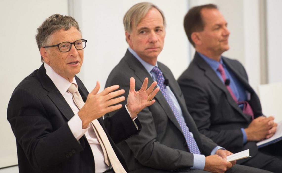 Bill Gates, Ray Dalio, Paul Tudor Jones