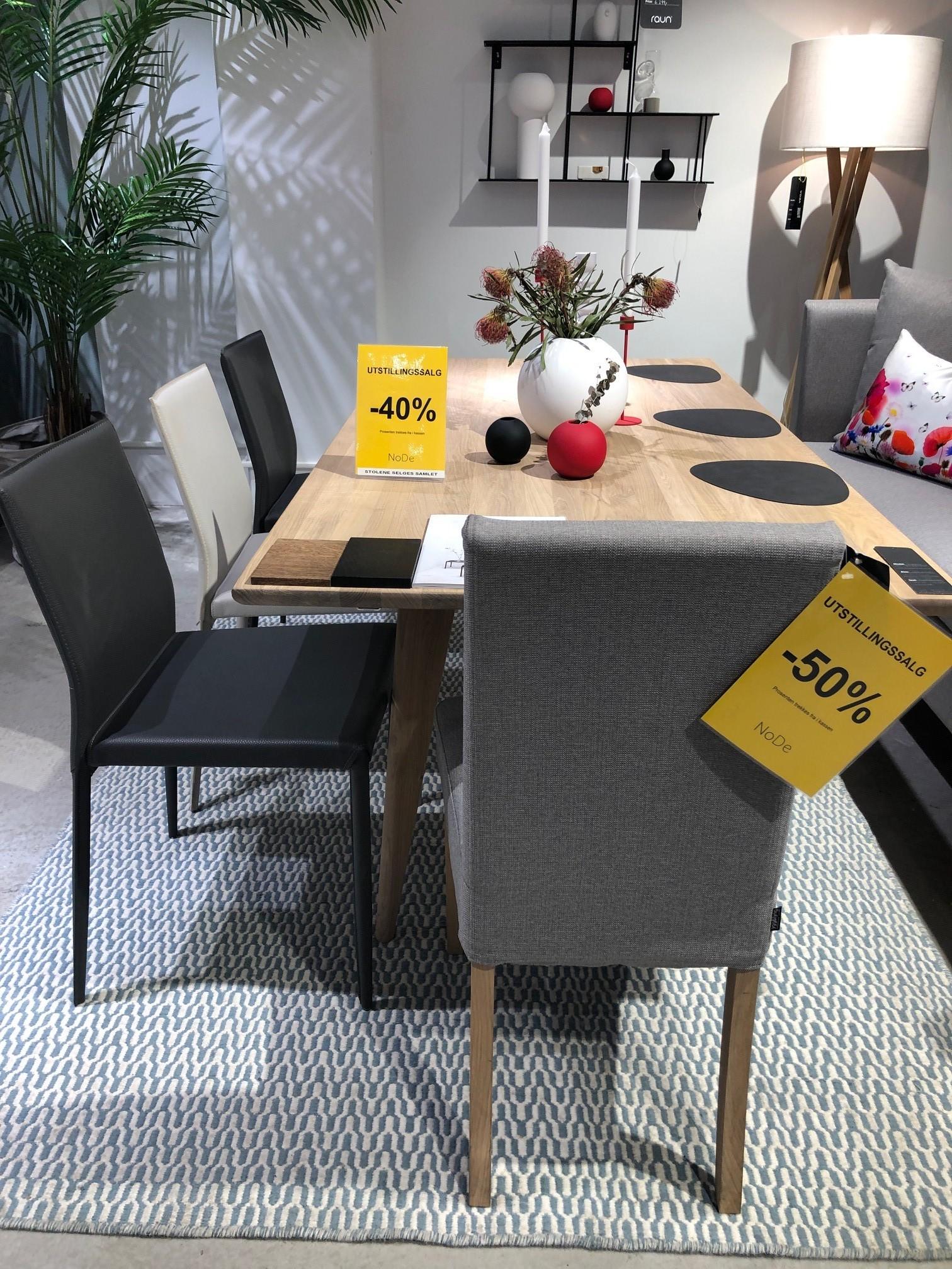 storm spisestol -40% (2x mørkgrå solgt). knaus SPISESTOL -50%. Spisebordet er solgt.