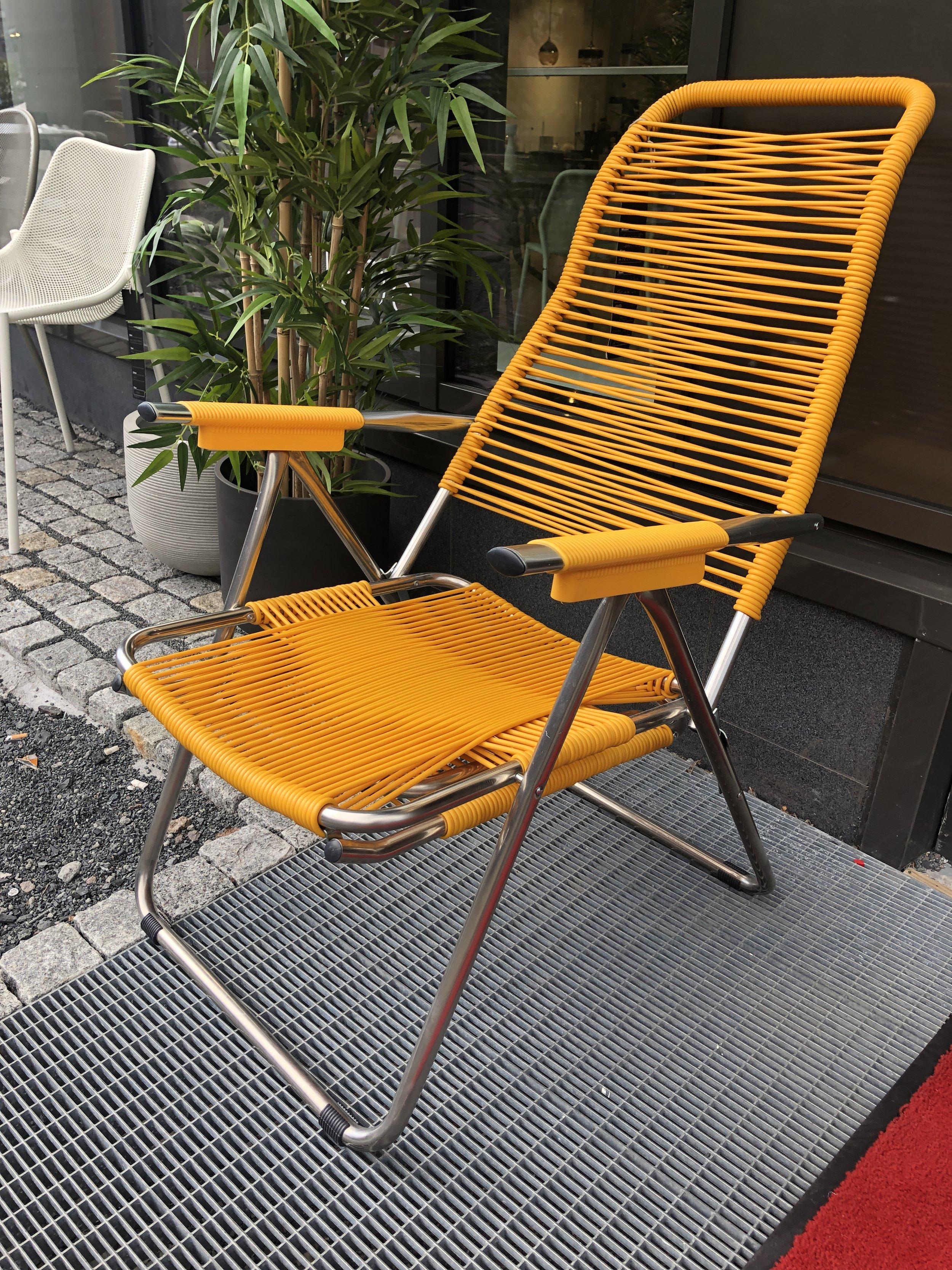 Spaghetti stol/solstol: -**% - Finnes også i oransje/rød og grå