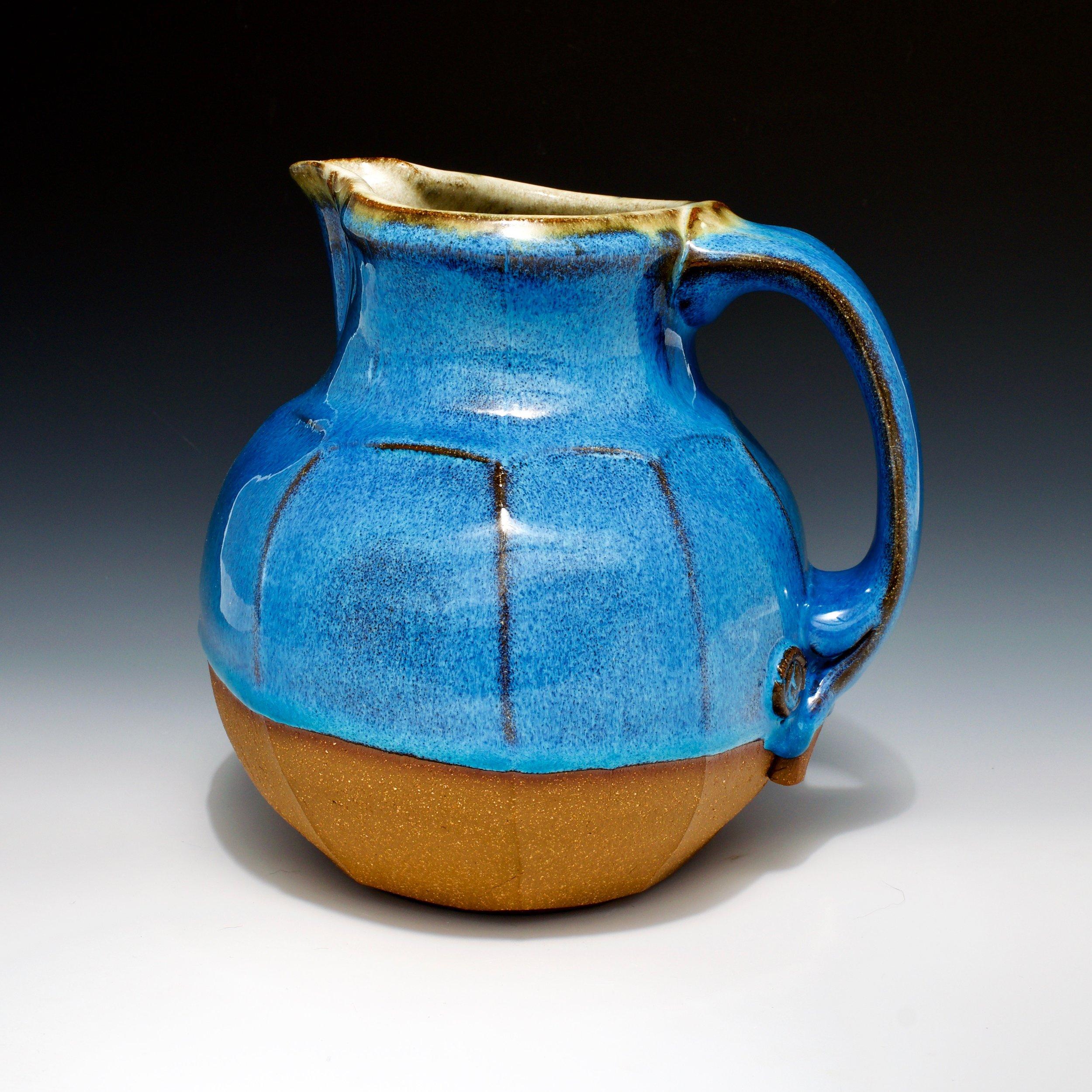 stoneware pottery wheel-thrown Ceramic Shino Pitcher