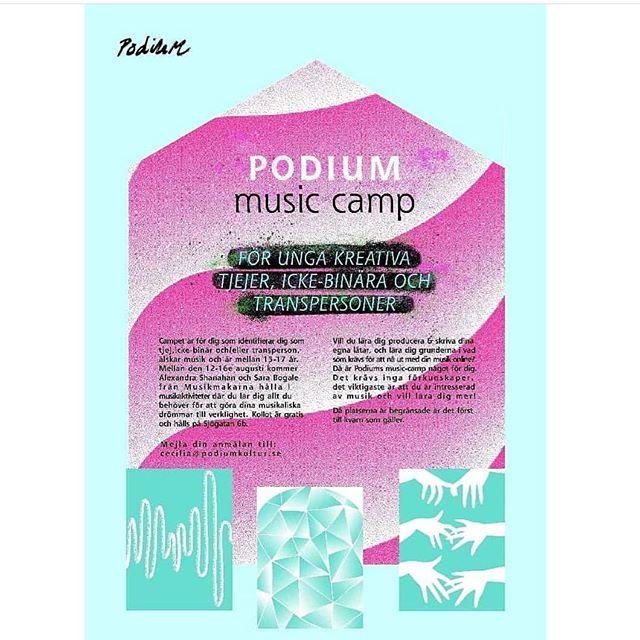 1 𝘷𝘦𝘤𝘬𝘢 𝘬𝘷𝘢𝘳 𝘵𝘪𝘭𝘭𝘴 𝘗𝘰𝘥𝘪𝘶𝘮 𝘮𝘶𝘴𝘪𝘤 𝘤𝘢𝘮𝘱 𝘪 Ö𝘳𝘯𝘴𝘬ö𝘭𝘥𝘴𝘷𝘪𝘬 🎧🔊🎶 . . Nästa vecka kör vi music camp i @musikmakarna's lokaler i Ö-vik! Veckan är späckad med workshops i musikproduktion och låtskriveri. Campet är gratis och för dig mellan 13-17 som identifierar dig som tjej, icke-binär/transperson. Anmälningar skickas till cecilia@podiumkultur.se 🌺🌺🌺 #podiumkultur #ungakreatörer #musikproduktion #kollo #musikmakarna #workshop