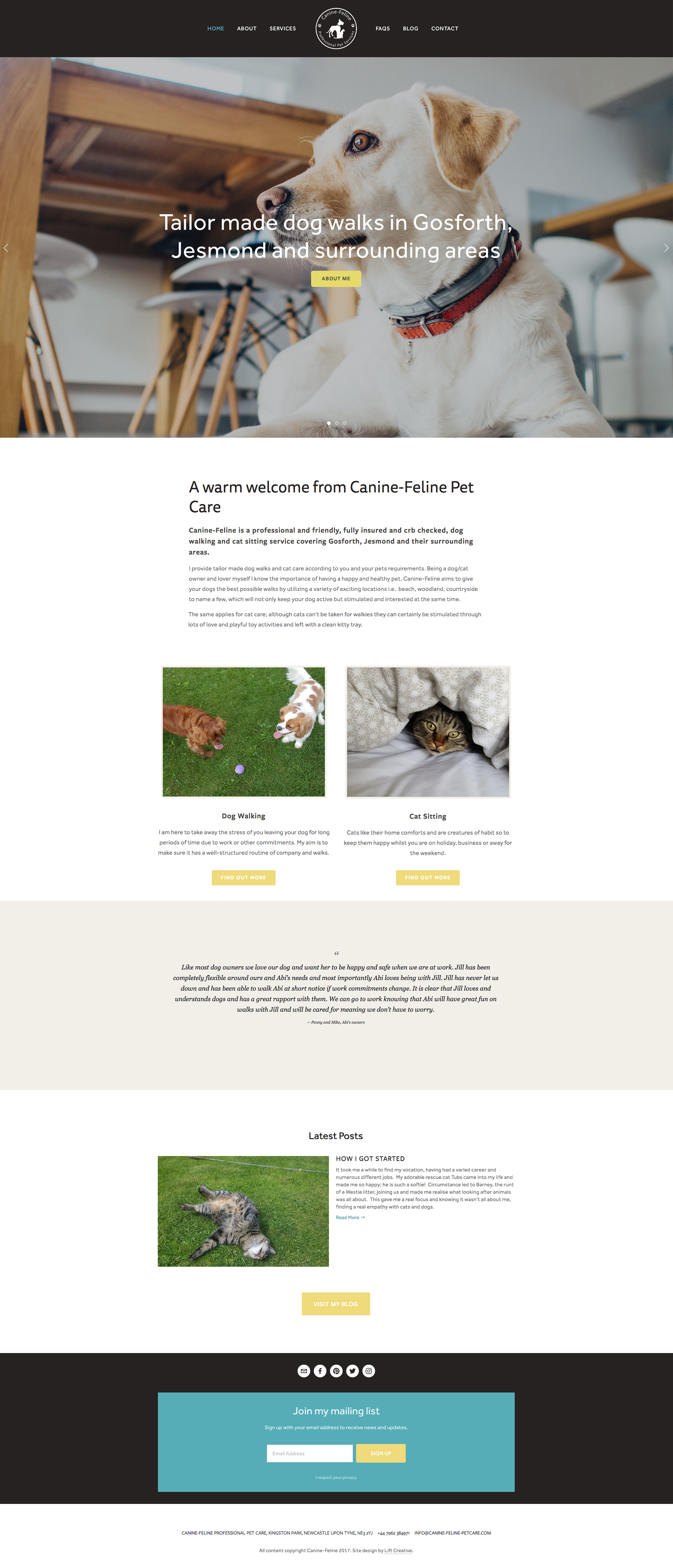 Squarespace for pet services