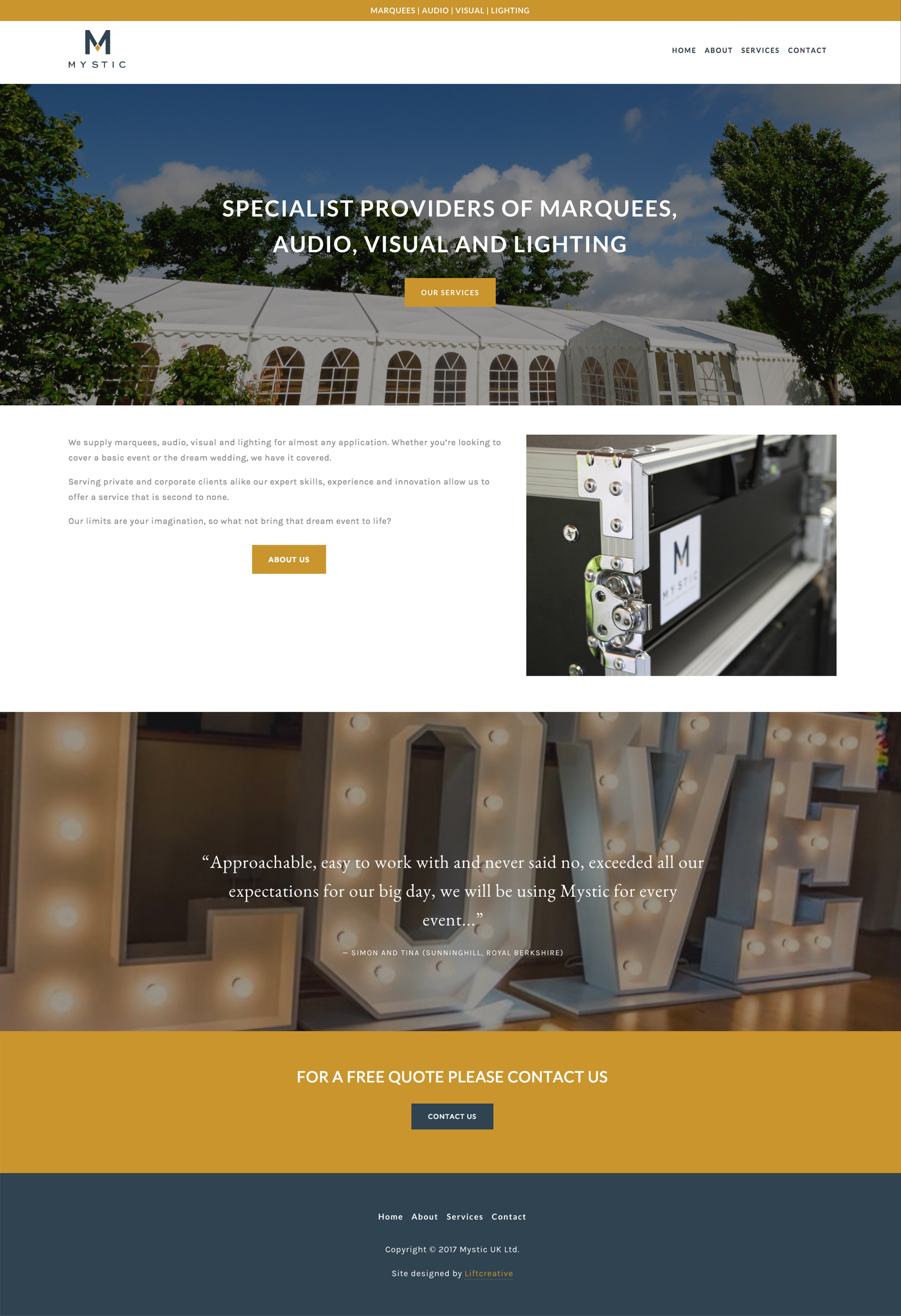 Squarespace for party equipment hire
