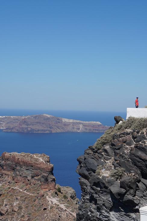 Hiking Santorini makes you feel small.