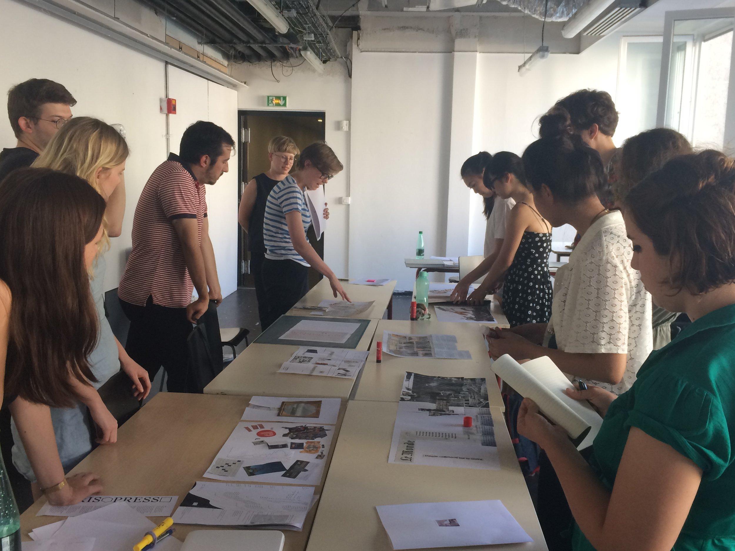 Graphic Design workshop with Rosa Nussbaum