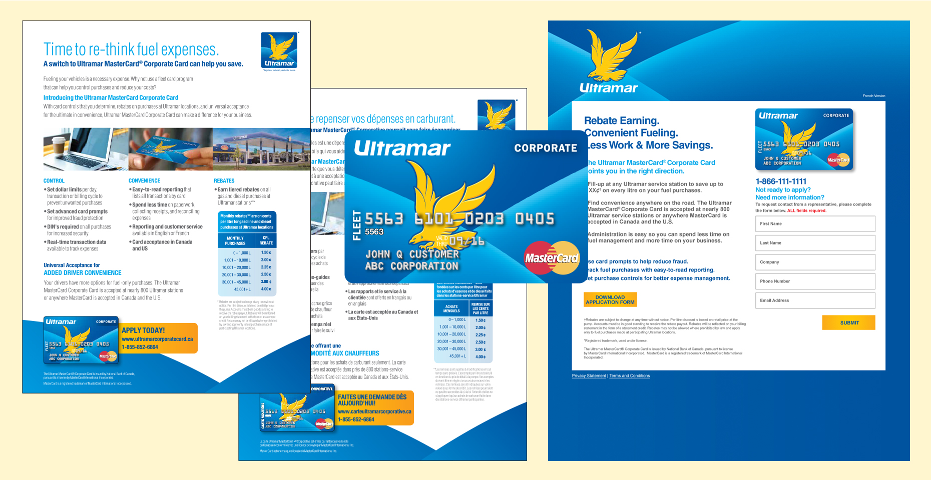 LANDING PAGE, CARD & SELL SHEETS: Ultramar
