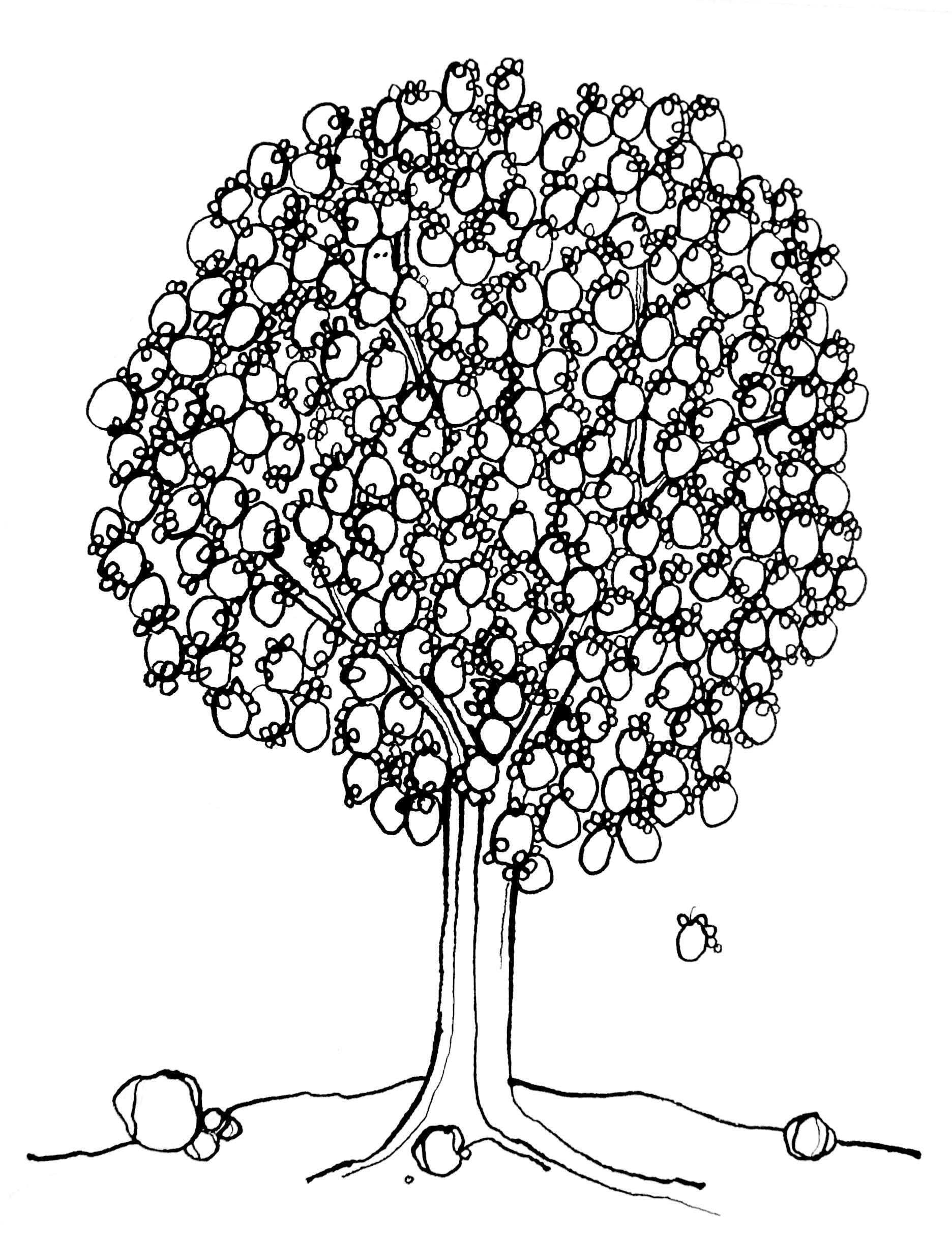 "PARTRIDGE IN A PEAR TREE – 11X14"""