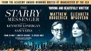 THE STARRY MESSENGER STARRING MATTHEW BRODERICK AND ELIZABETH MCGOVERN OPENED AT THE WYNDHAMS THEATRE JUNE 2019