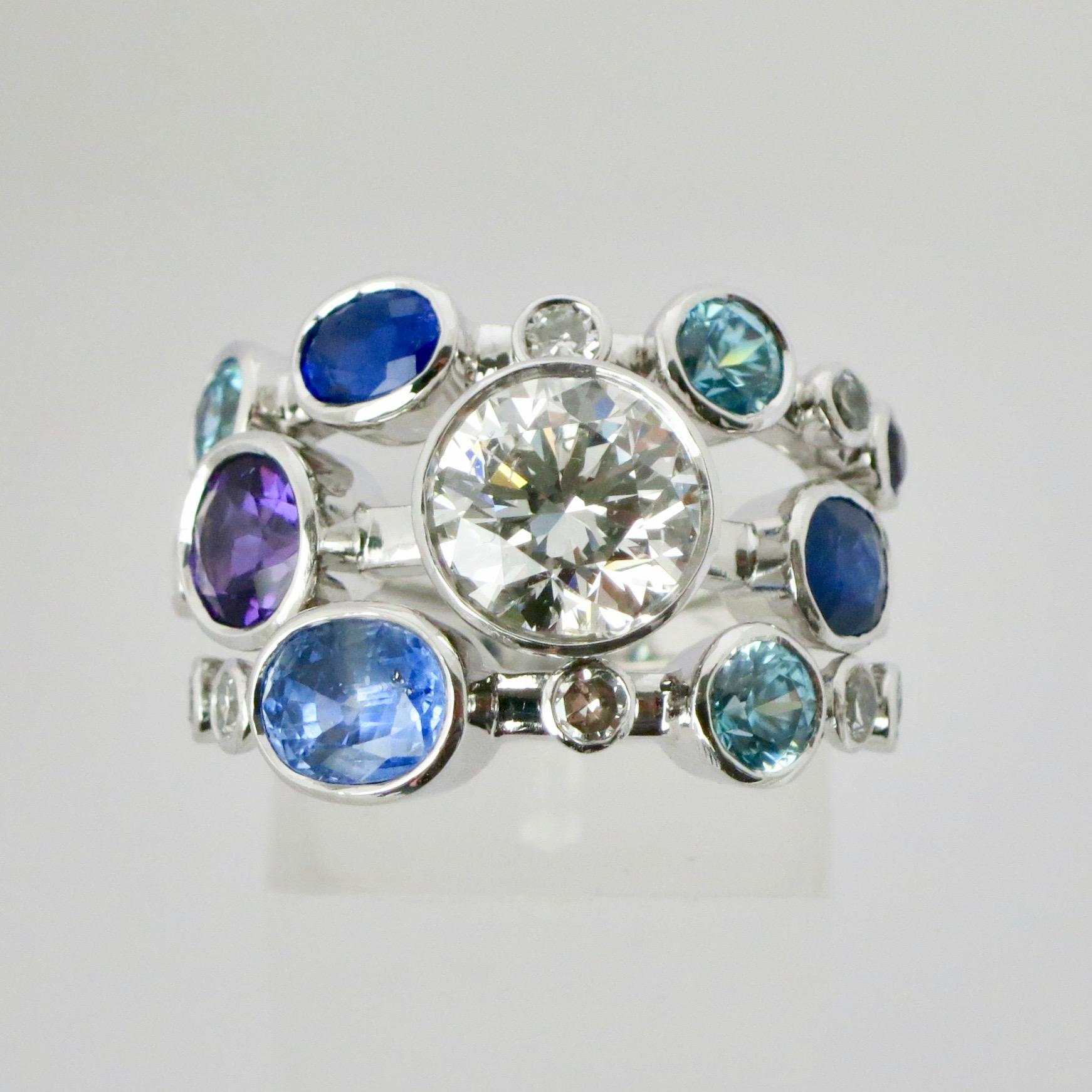 Triple mix diamond, sapphire & amethyst ring.jpeg