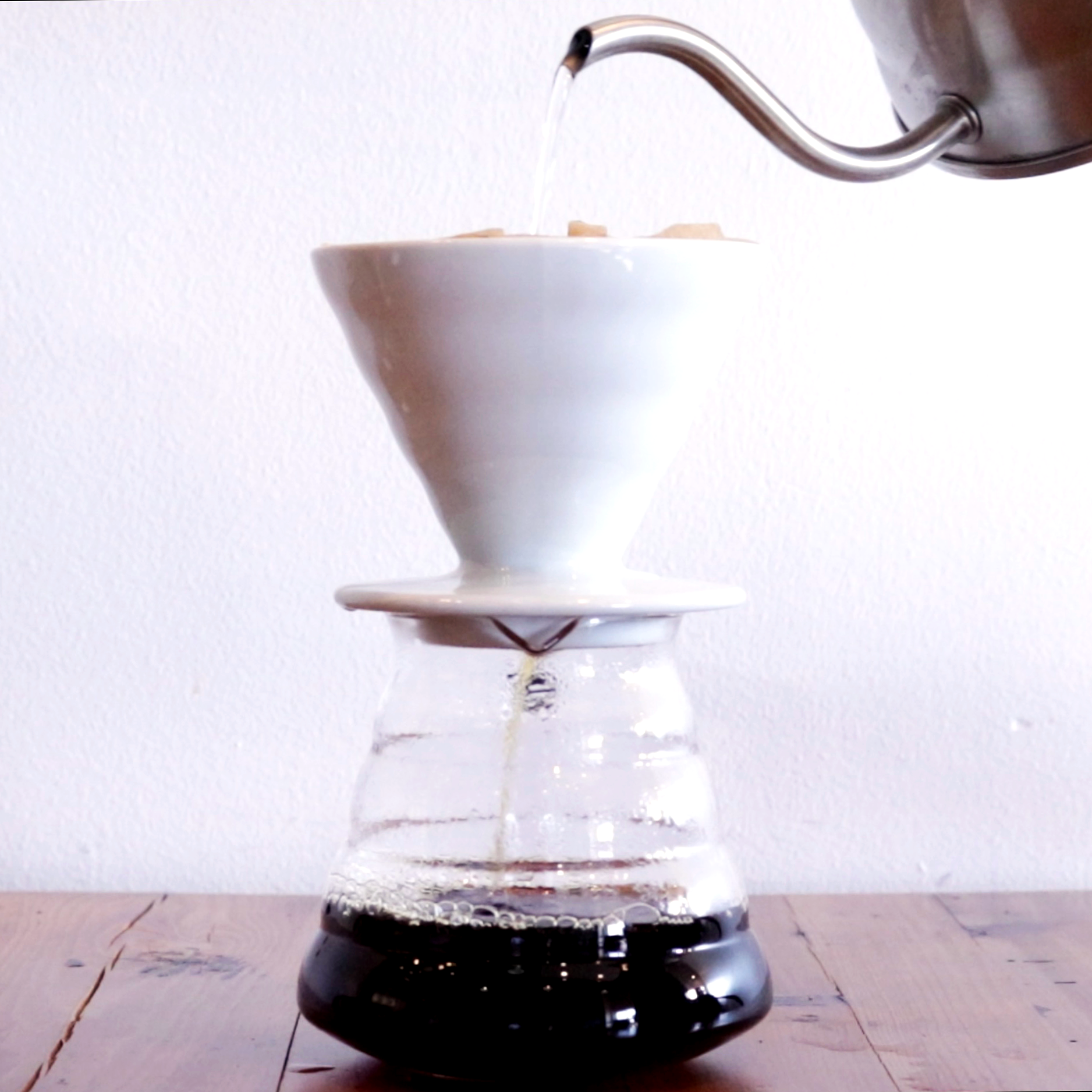 V60 Pour Over - Hand-Poured Coffee. Ask about our selections