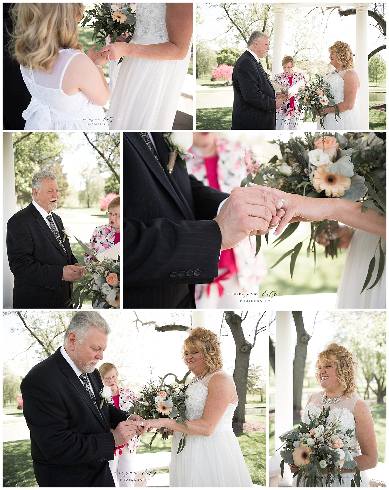 NEPA Wedding Photographer in Allentown PA with Ceremony at the Rose Garden