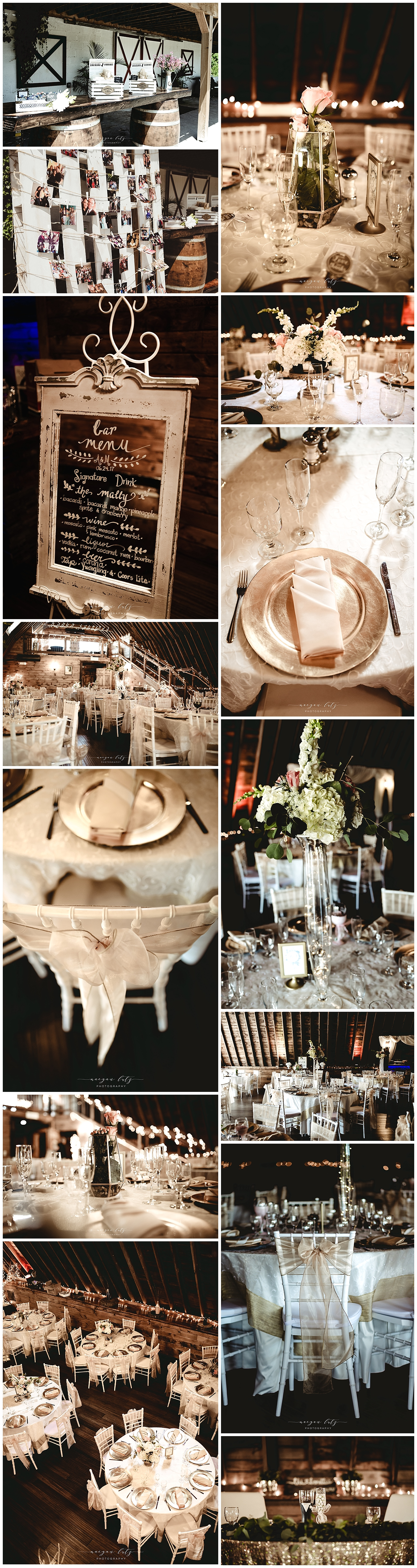 Wedding reception at The Barn at Glistening Pond, Falls PA by Photographer in NEPA