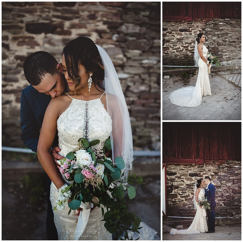 Outdoor rustic Wedding at the Barn at Glistening Pond, Falls PA