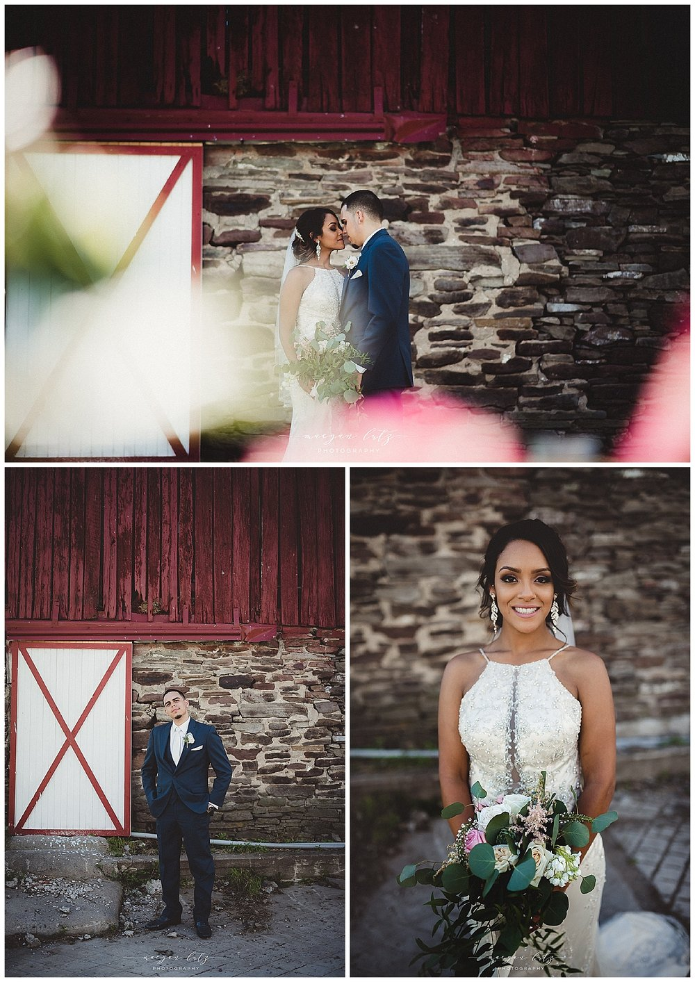 Scranton Photographer at Outdoor rustic Wedding at the Barn at Glistening Pond, Falls PA
