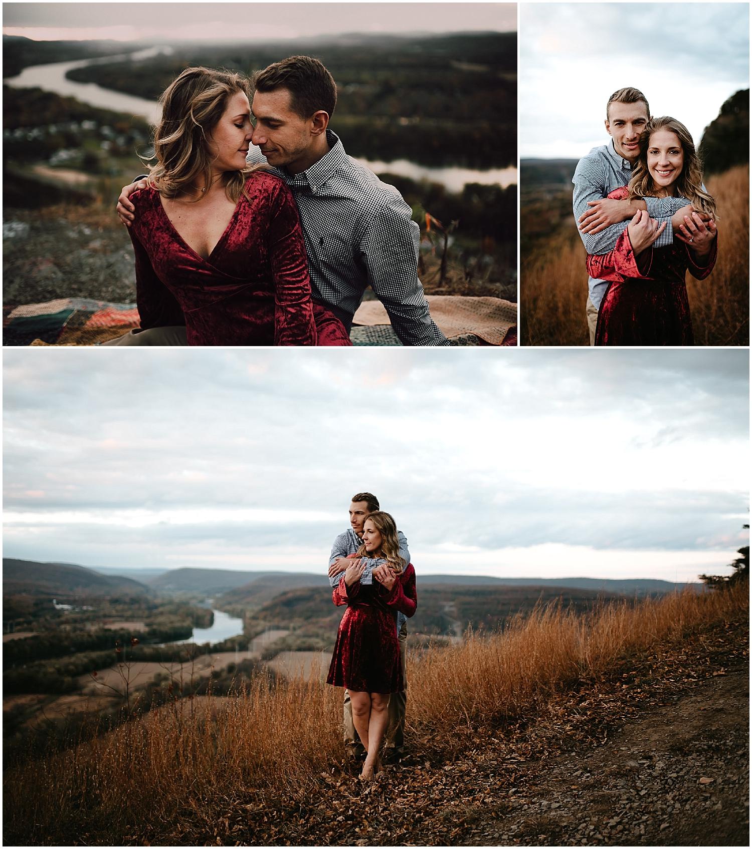 Mountain Top Engagement by Philadelphia Wedding Photographer in Wapwallopen NEPA
