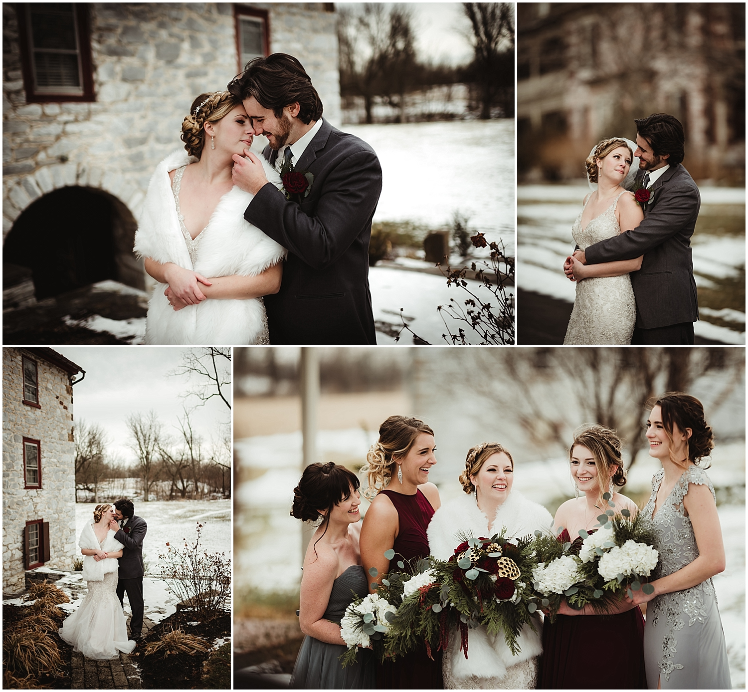 Winter Wedding at the Tulpehocken Manor in Myerstown PA by NEPA Wedding Photographer