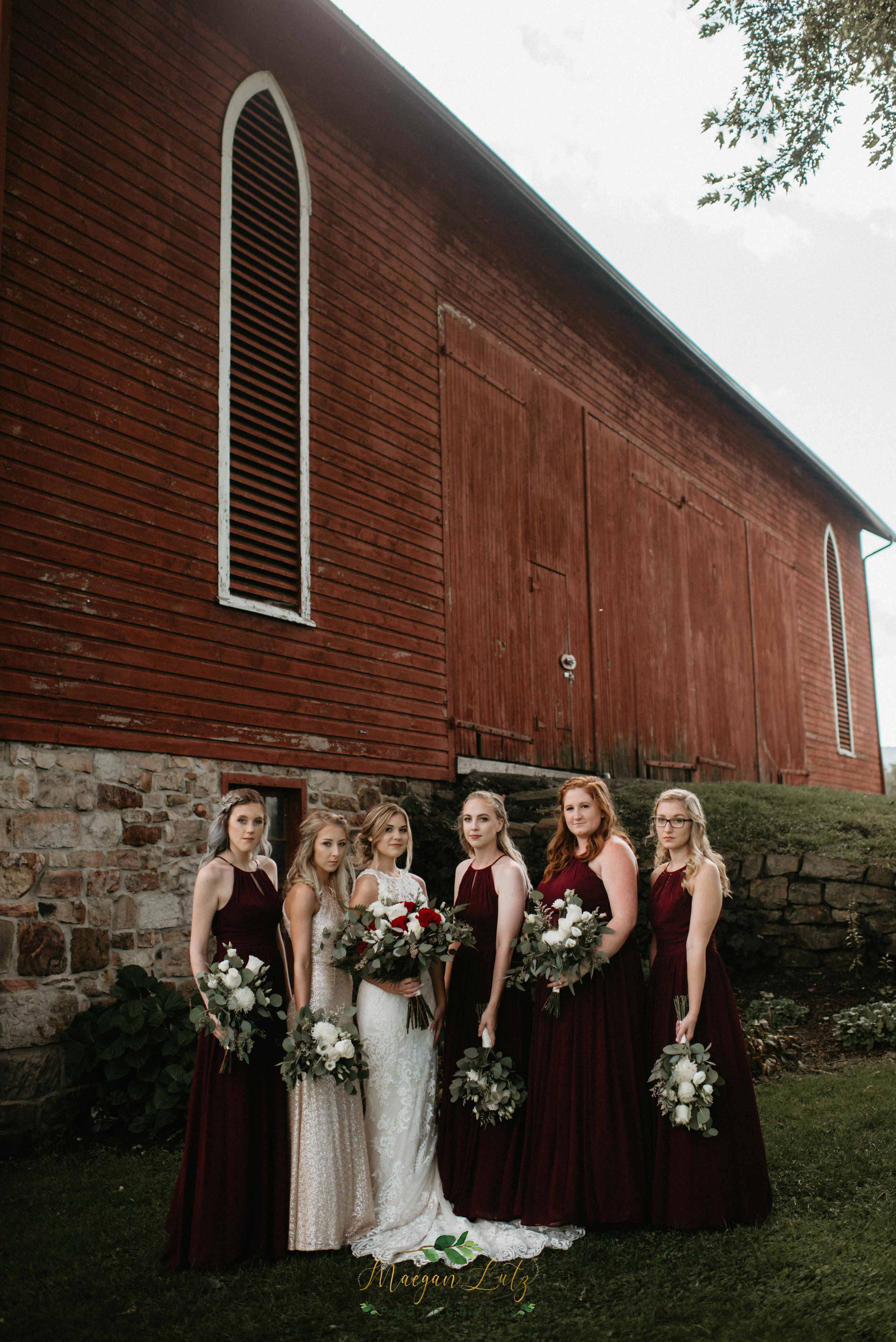 Wedding at the 1900 Red Barn in Lock Haven PA by NEPA & Central PA Wedding Photographer