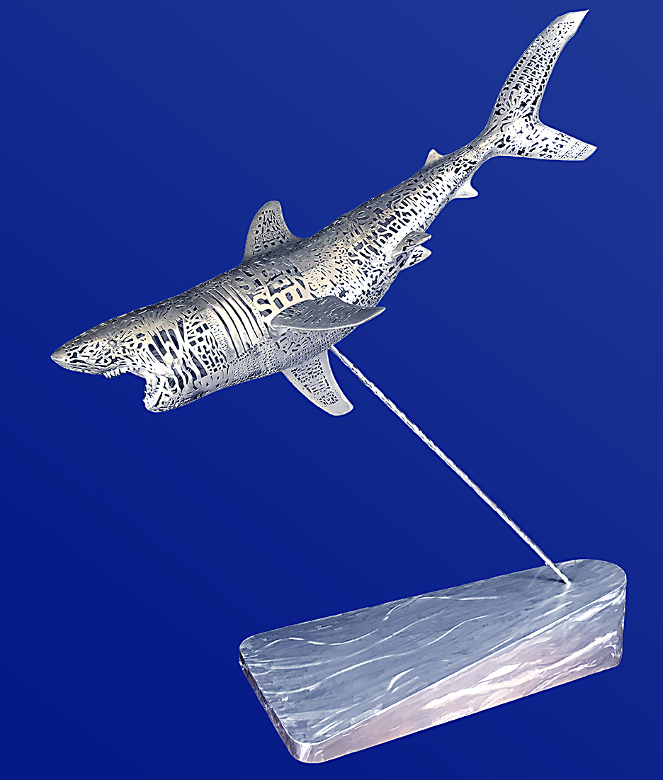 3D Printed Shark Sculpture - Michael Cardacino