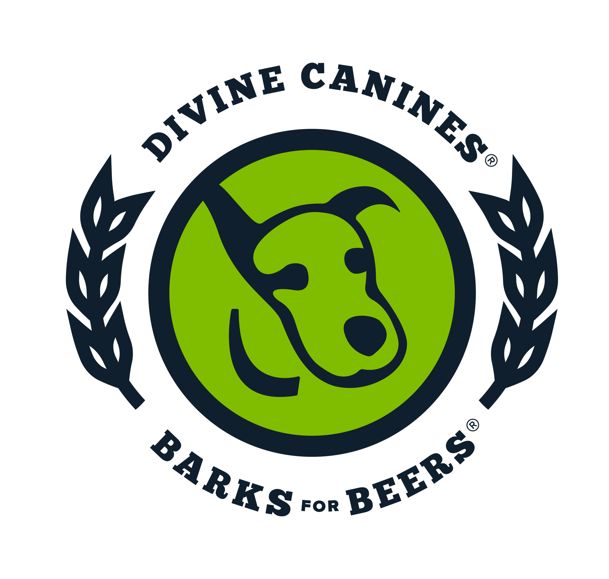 Logo - Using Divine Canine's current logo, as well as their green and blue color palette, we created a new for the event emphasizing that this was a related event.