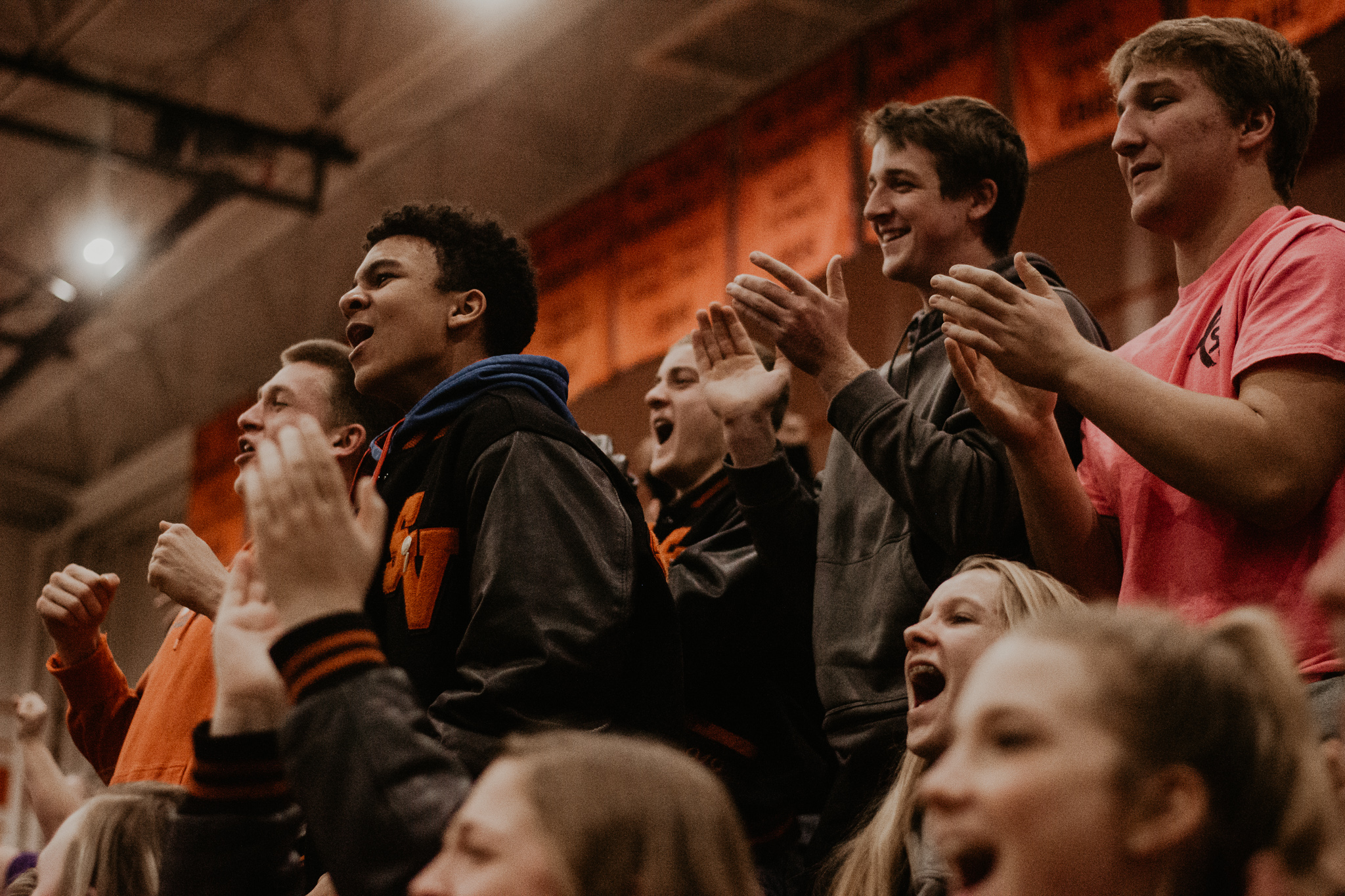 The student section had many moments during the 2-day tournament to stand up and cheer.
