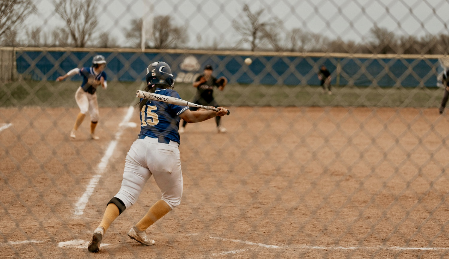 RBI TIME: With the bases loaded, Swedes' Rayleen Castro swats a line-drive single through the infield.