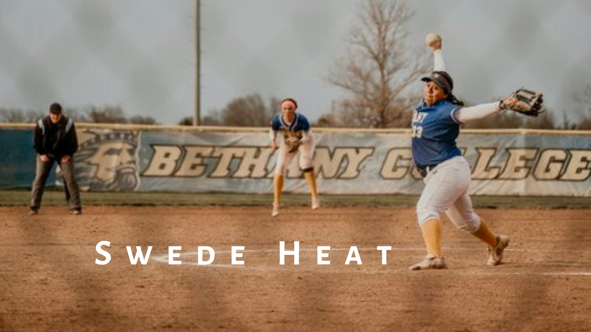 Swedes' right hander Ashley Nava brings the heat during this week's matchup with Sterling College in Lindsborg. Bethany split the double header with the Warriors, losing game one: 12-7 and winning the nightcap: 7-6. Swedes' softball travels to Avila University for a Saturday double header in Kansas City, MO.