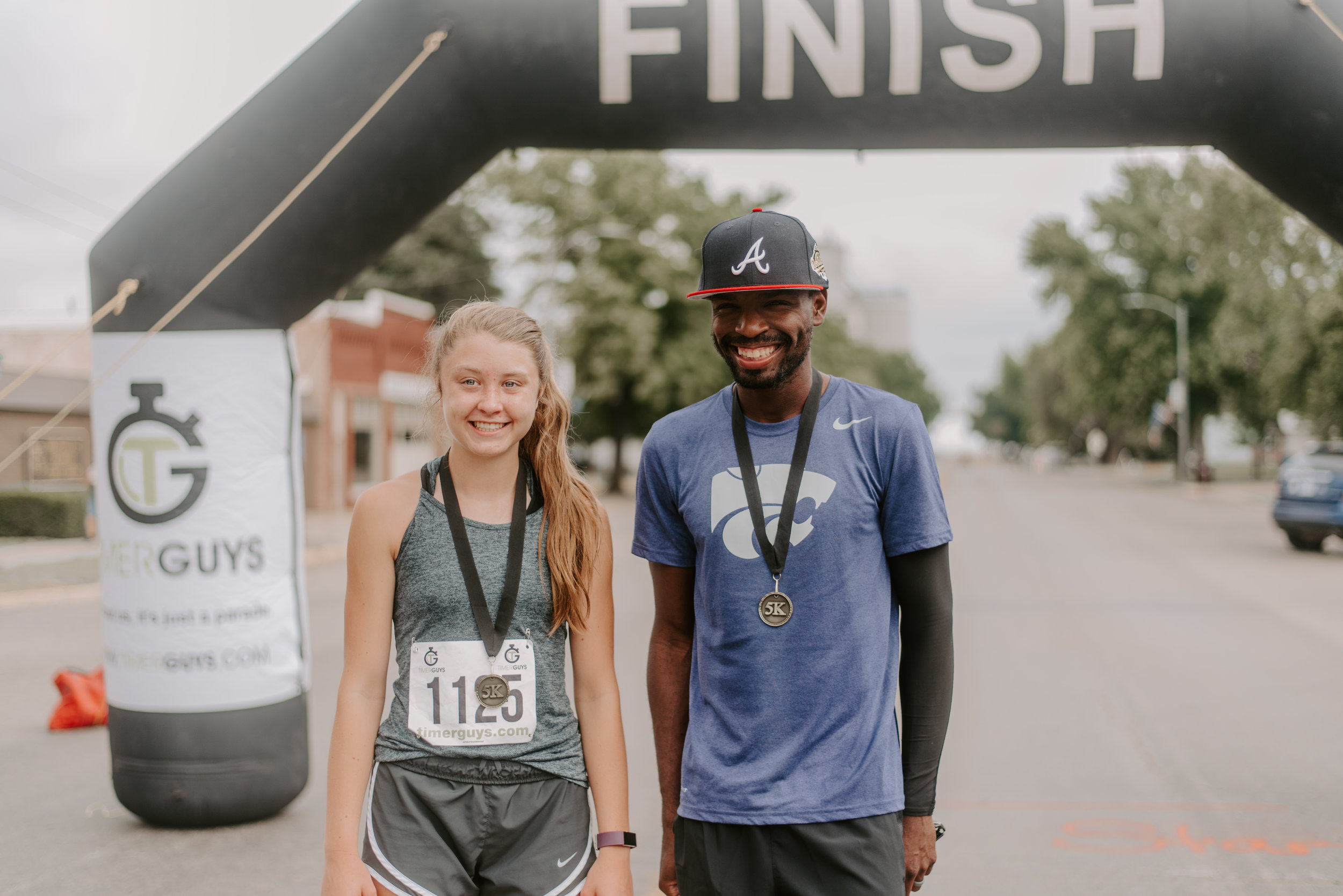 Ashtin Klepper, 16 of Ellinwood finished first in the women's race with a time of 22:08. Eddie Grier, 34 of Manhattan, Kansas won gold on the men's side, crossing the finish line at 17:51.
