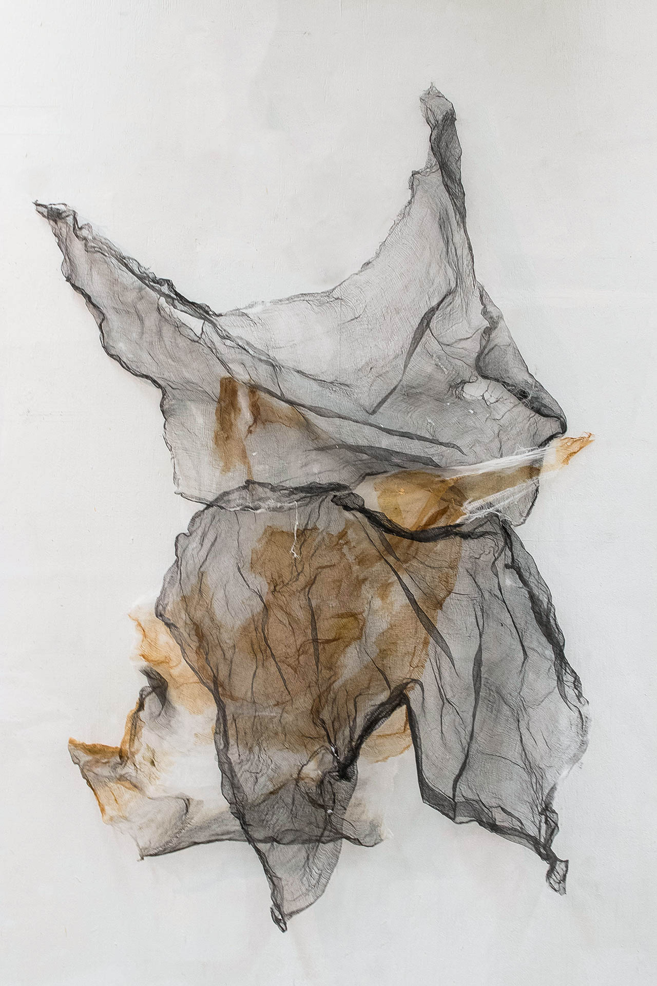 Vulnerability No. 1  2017 Shellac, Ink, + Gac 400 on Textile 61 x 45 in.