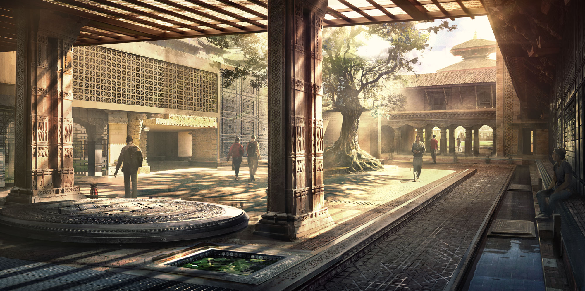 Kamar-Taj main courtyard