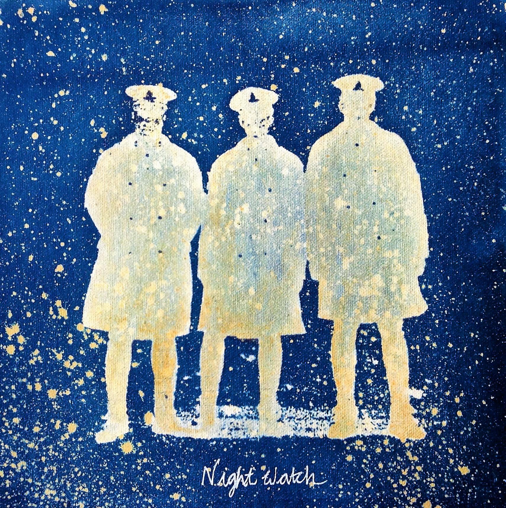 Night Watch, Cyanotype by Paula Preston, 2019