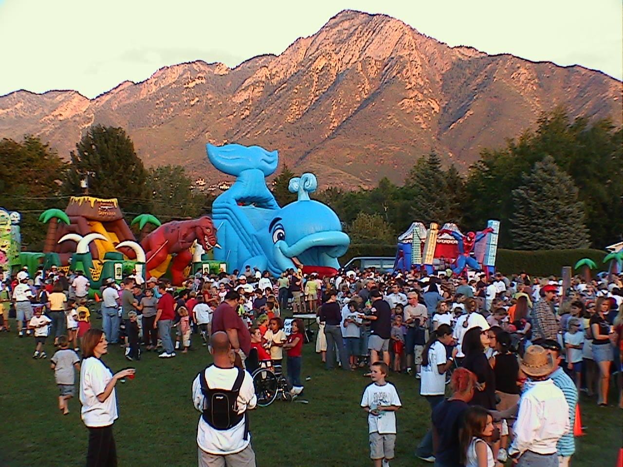 School Carnival In Utah. Lots of fun games & rides!