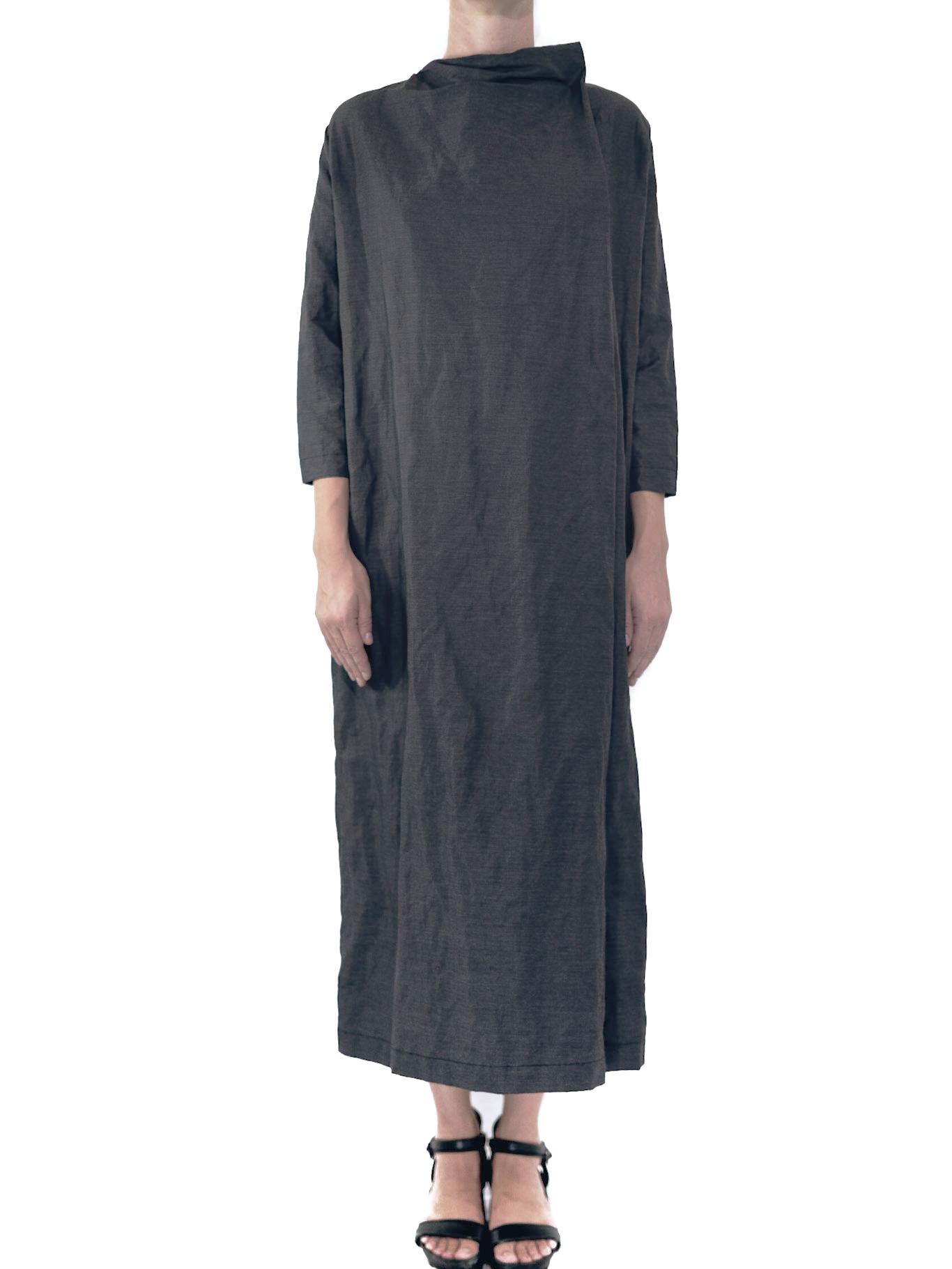19.0.20 DG - DRESS : STRICT  FABRIC: 77% COTTON / 23% POLYESTER  SIZE: S / M / L  COLOR: GREY