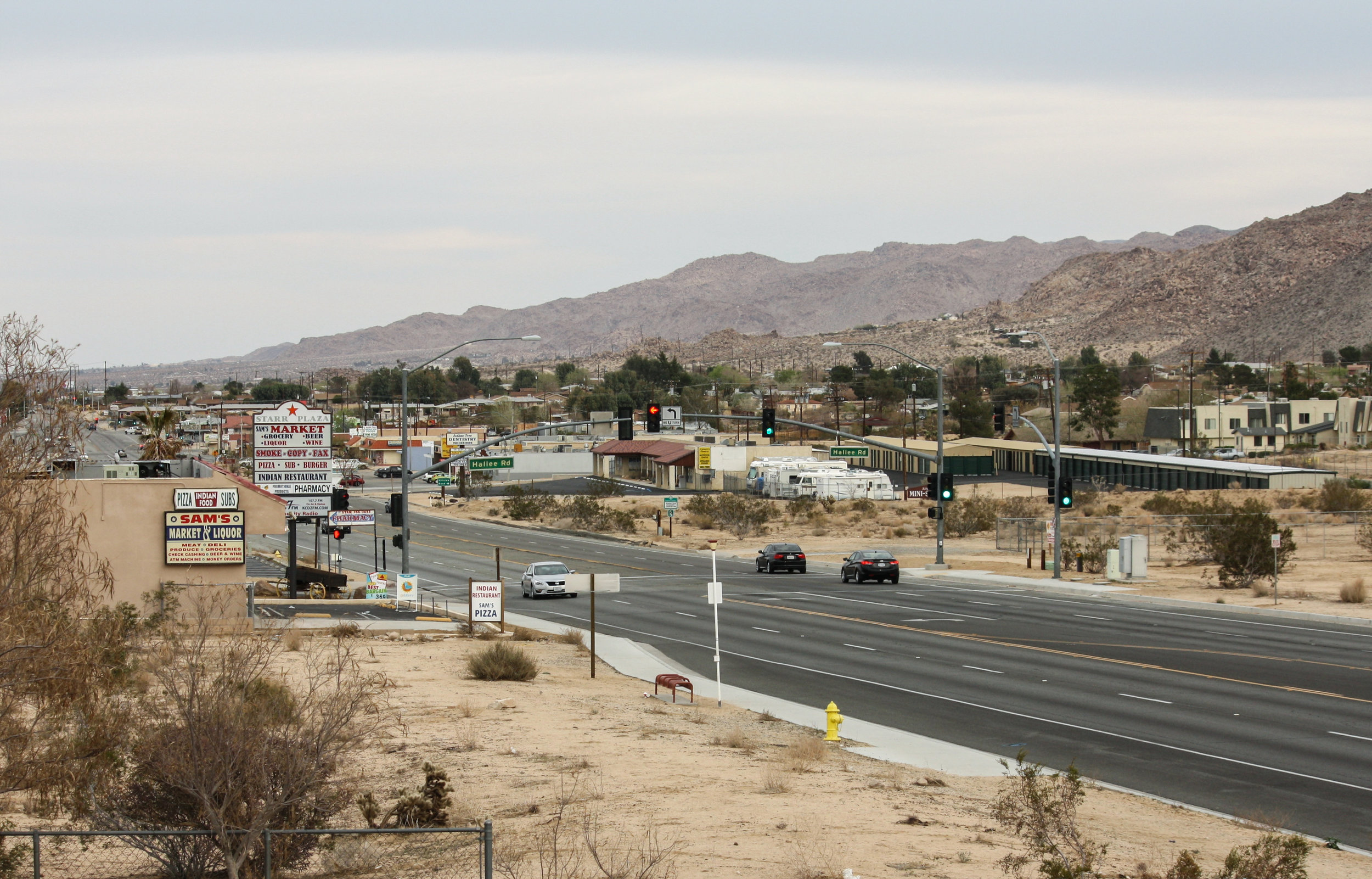 "Description.   (Document Link)    Source: ""Twentynine Palms Highway (State Route 62) in Joshua Tree, California"" by Bernard Gagnon – Own work. Licensed under CC BY SA 4.0 via Wikimedia Commons –  https://commons.wikimedia.org/wiki/File:Joshua_Tree,_California_01.jpg#/media/File:Joshua_Tree,_California_01.jpg"