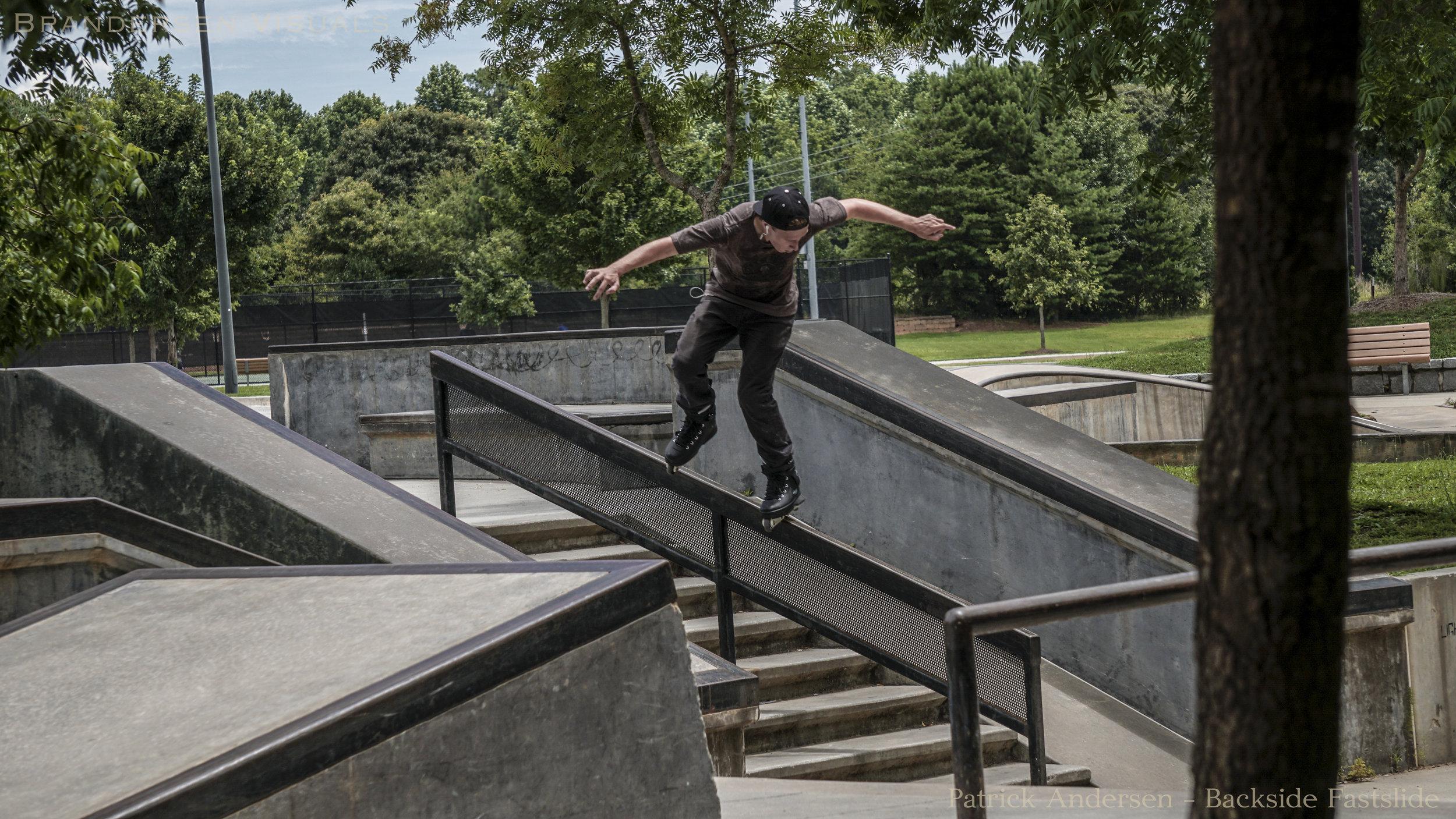 Patrick Andersen - BS Fastslide to Fakie - Photo by Brandon Andersen