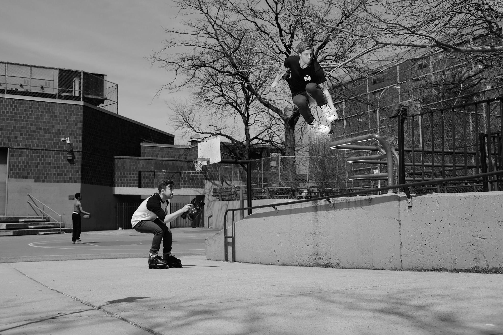 Adam Johnson filming Alex Broskow - photo by Shawn Engler