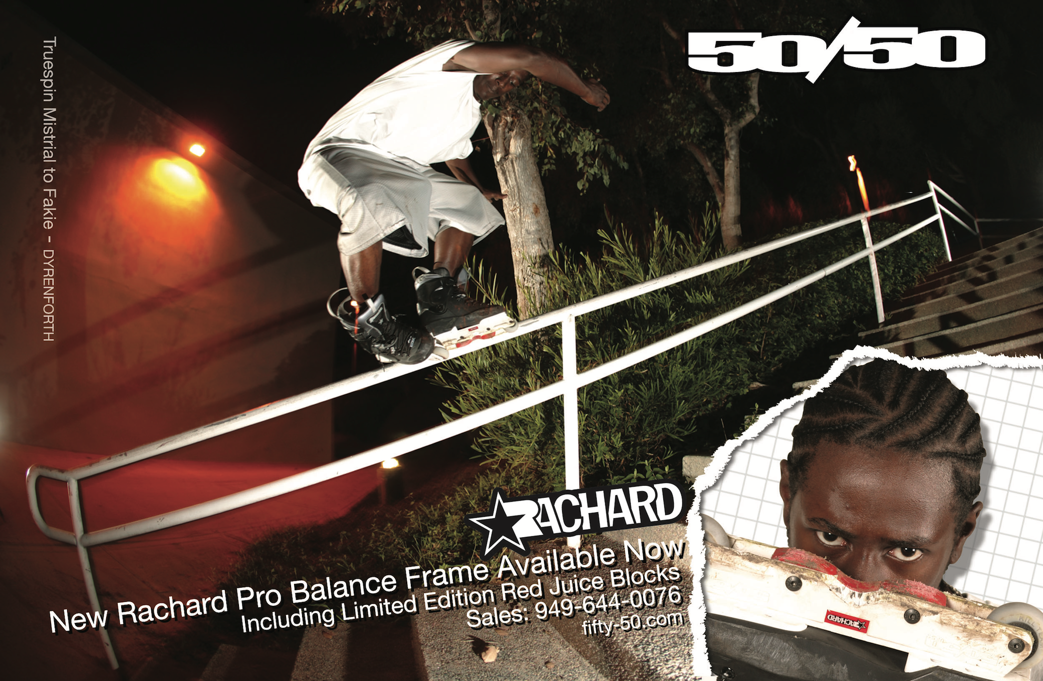 Classic 50/50 Balance ad featuring former pro team rider Rachard Johnson.