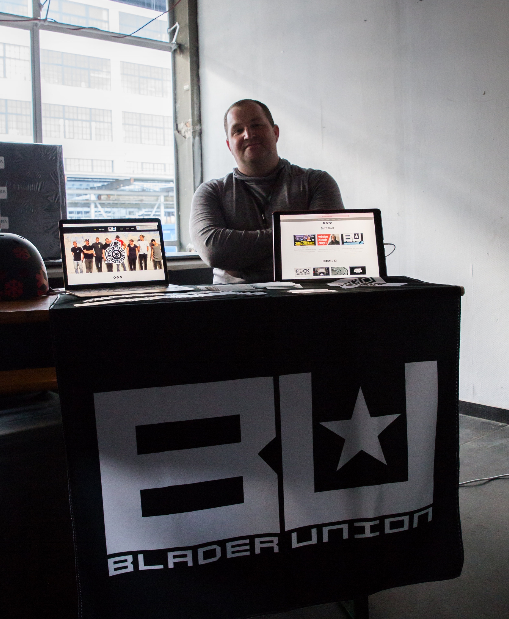 Blader Union's Tradeshow Booth