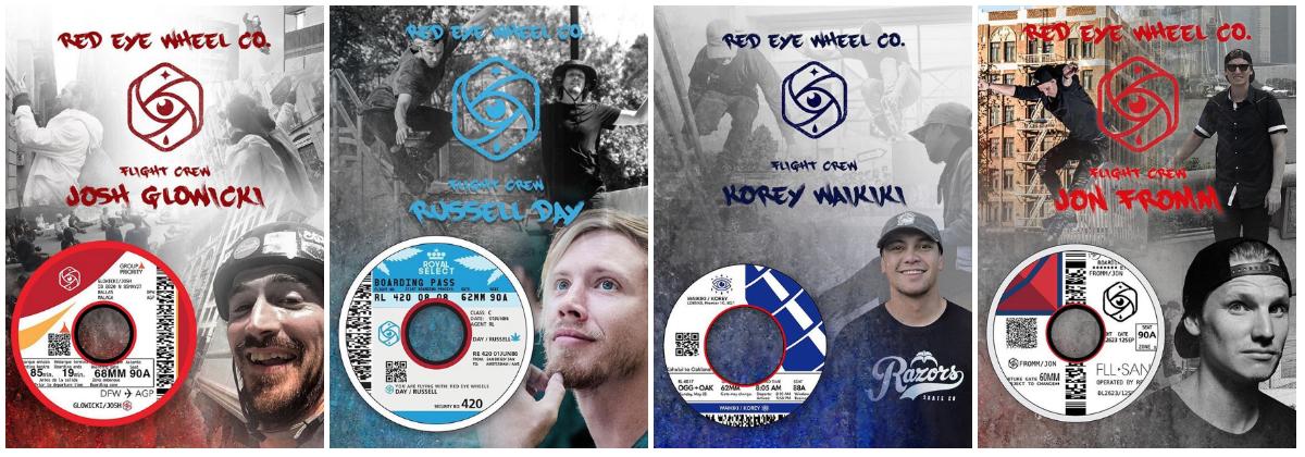 The Red Eye Wheels Flight Crew: Josh Glowicki, Russell Day, Korey Waikiki, and Jon Fromm.