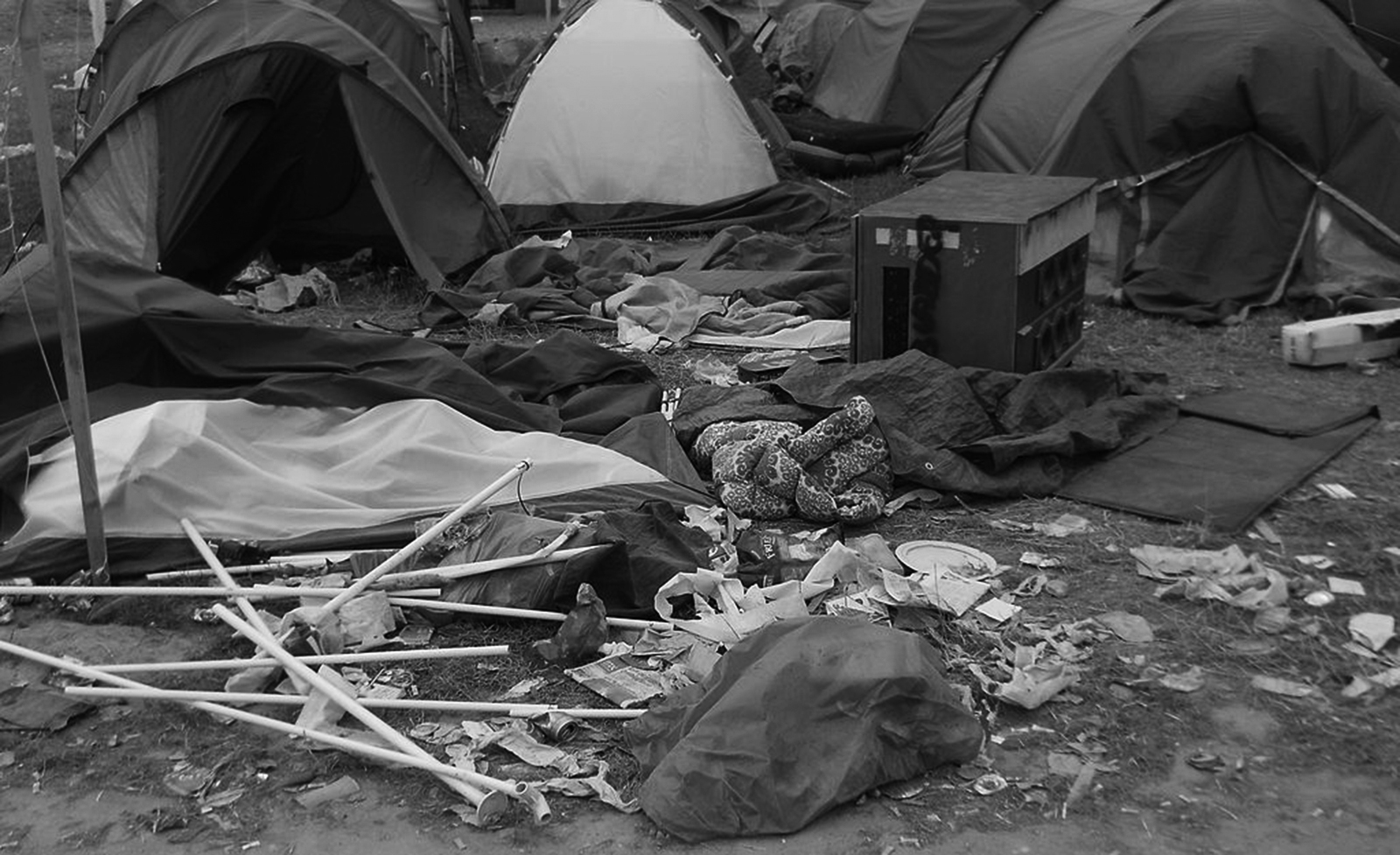 Tents at Roskilde in 2014 (Photo via WikiCommons user Knak)