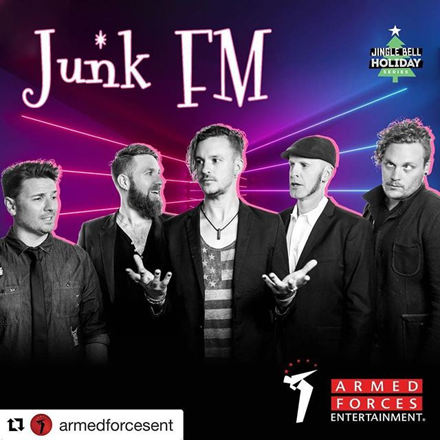 #Repost @armedforcesent with @get_repost ・・・ Ready to ring in the new year with @junkfm? They're heading to bases all over Europe to bring the party in less than a week! Full schedule 👉 link in bio