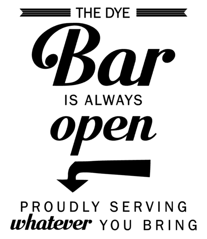 Personalized the Bar is Always open. Proudly Serving whatever you bring.png