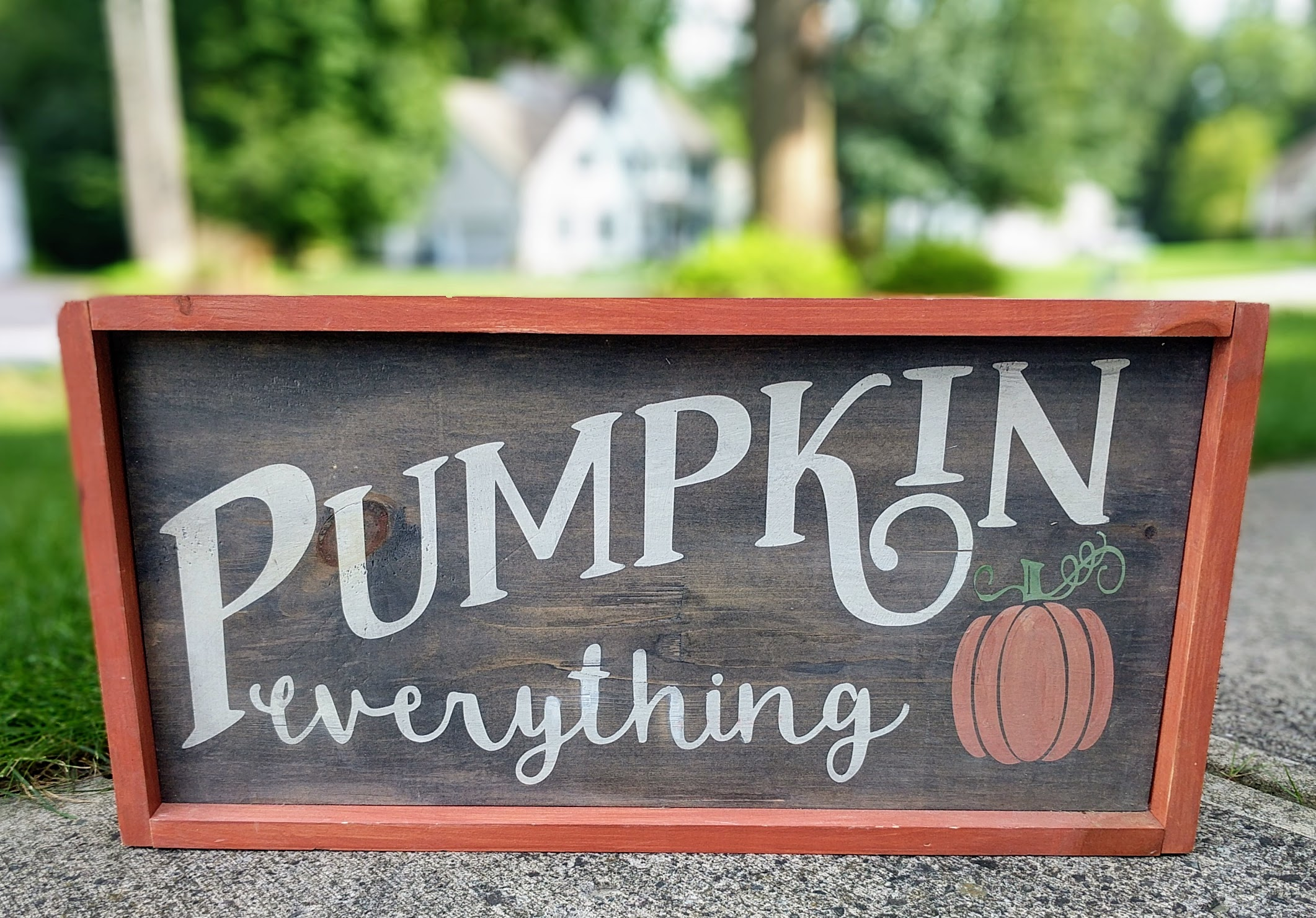 "Pumpkins Everything 12""x24"""