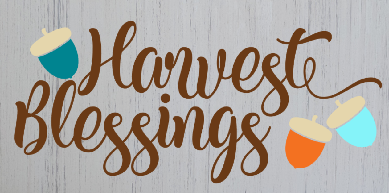"Harvest Blessings 12""x24"""