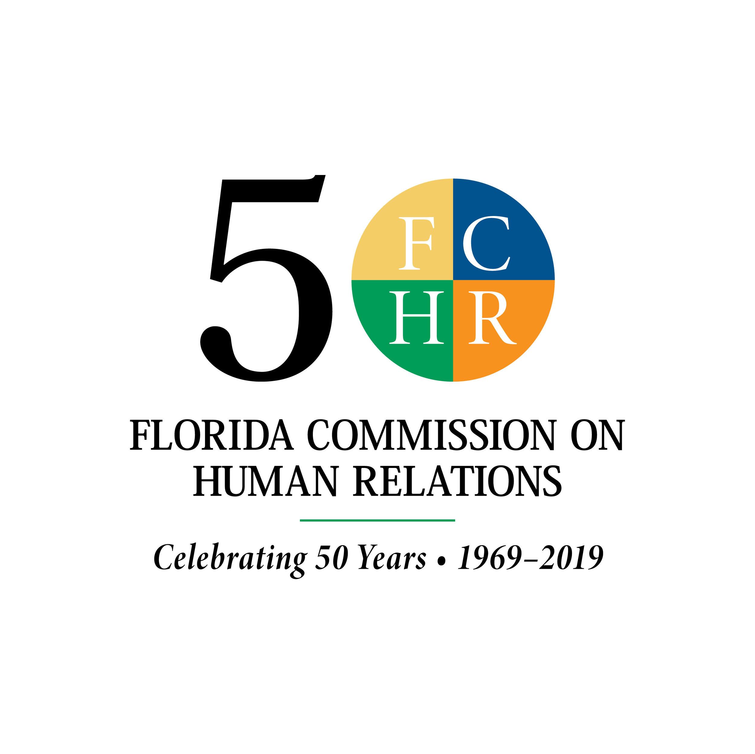FCHR 50th Anniversary Logo