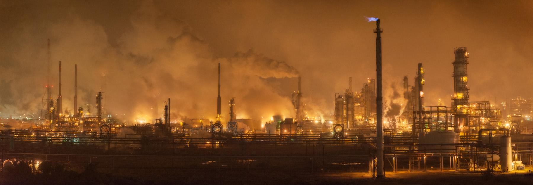Chemical plants on the Houston Ship Channel. Photo: Louis Vest via Flickr