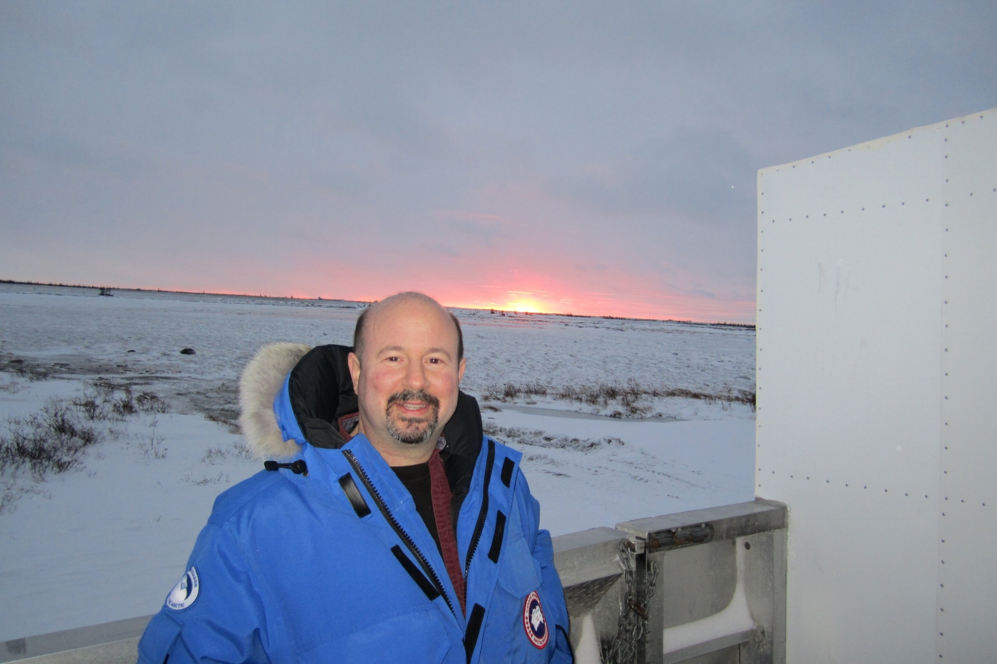 On a Tundra Buggy looking for polar bears in Churchill, Manitoba. (Photo credit: Michael Mann)
