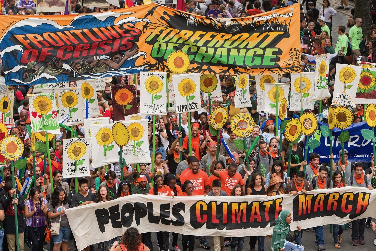 It's estimated that more than 300,000 marched at the People's Climate March on September 21, 2014 in New York City. Photo: Robert van Waarden/flickr