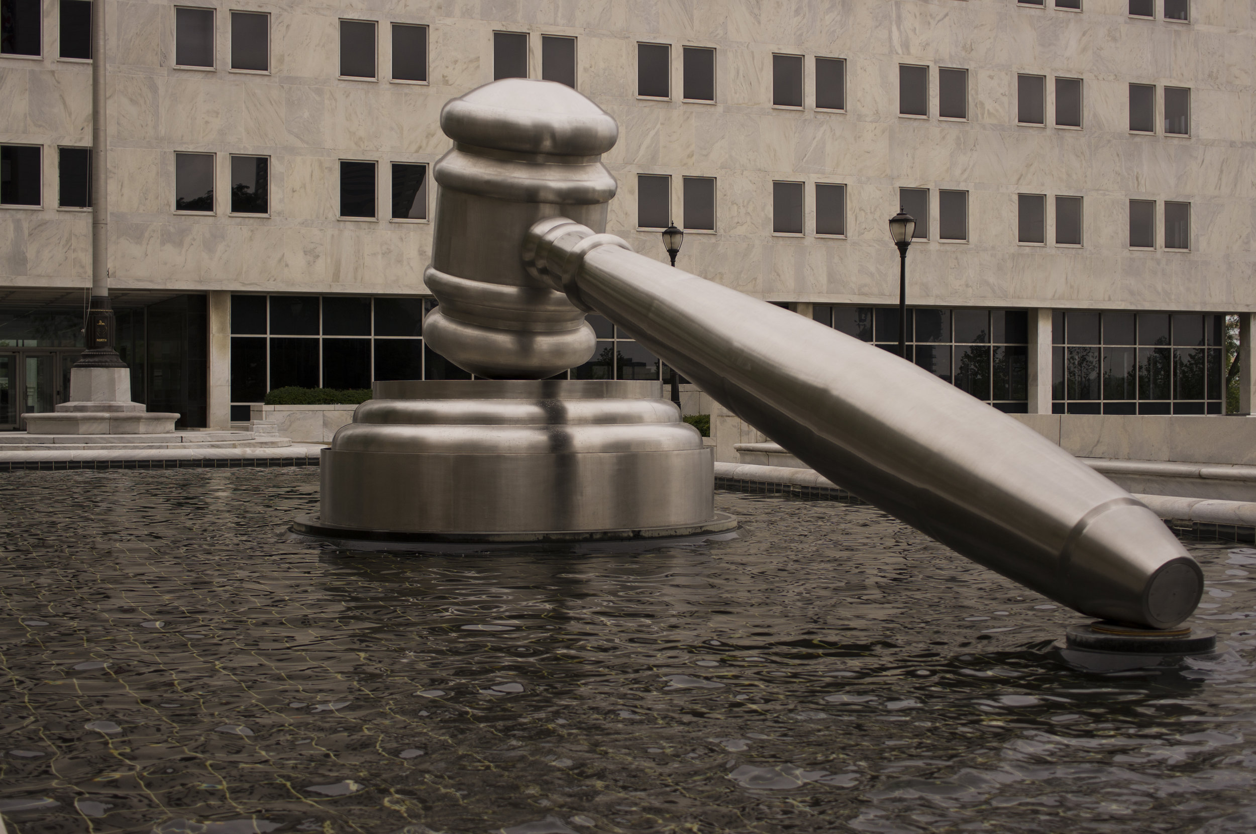 Gavel outside the Ohio State Supreme Court courthouse. Photo: Brian Rodgers/flickr