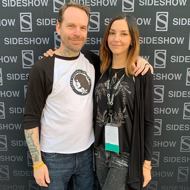 .....a huge shoutout to my wife who worked all day and caught a 5am flight to meet me at the SideShow SDCC party!