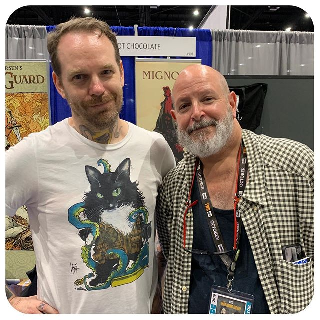 .....made Mike Mignola pose with my dorky BPRD Zuul shirt!